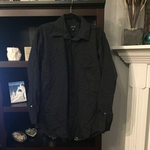 Axcess Gray and Black button-down